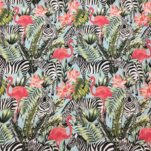 Tropical Paradise Flamingos & Zebras