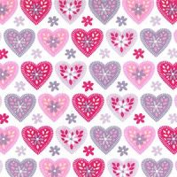 Cotton Poplin Hearts
