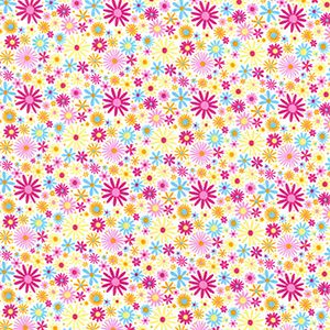 Cotton Poplin Flower Power