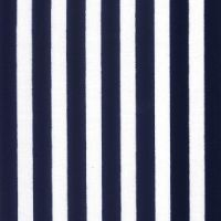 Cotton Poplin Navy Stripe