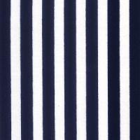 Cotton Poplin Navy Stripe