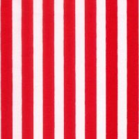 Cotton Poplin Red Stripe