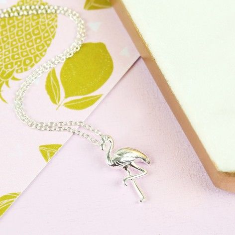 Silver Flamingo Necklace