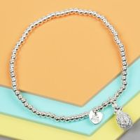 Silver Pineapple Bracelet