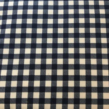 Gingham Cotton Canvas Navy
