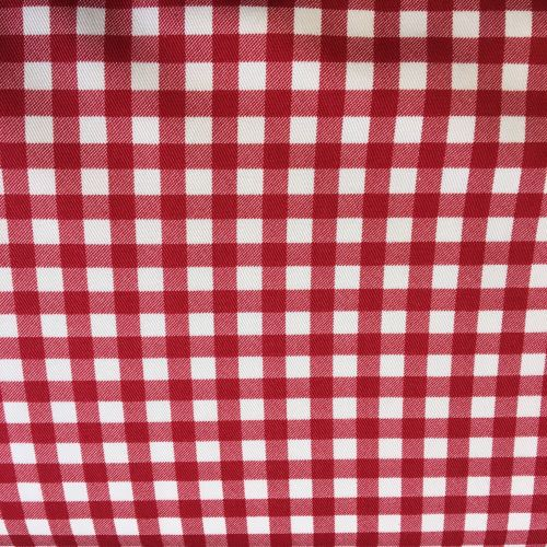 Gingham Cotton Linen Mix Red