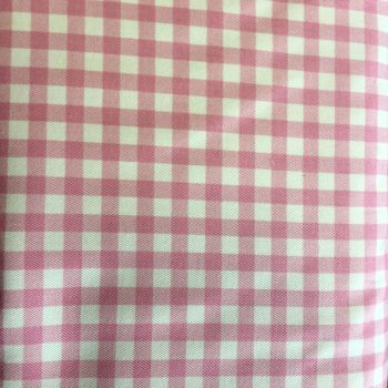 Gingham Cotton Canvas Pink