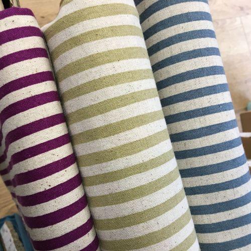 Stripe Cotton Linen Mix Sage