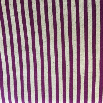 Stripe Cotton Canvas Purple