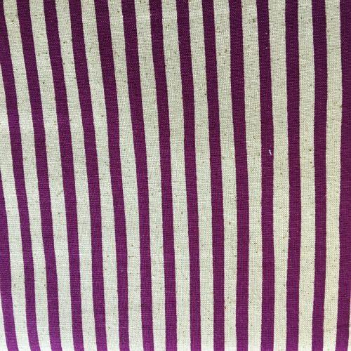Stripe Cotton Linen Mix Purple