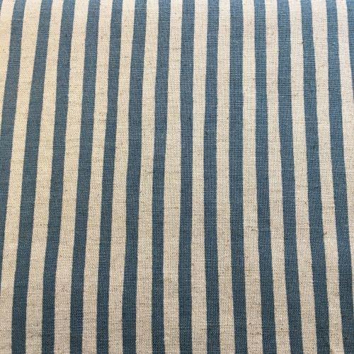 Stripe Cotton Linen Mix Blue