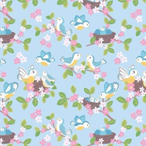 So Darling Bluebirds on Blue