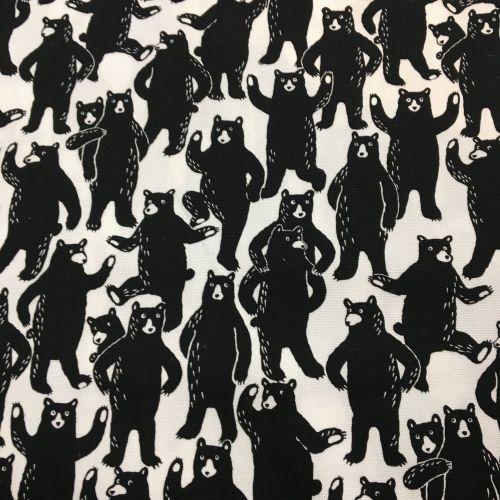 Black Bears Cotton Canvas