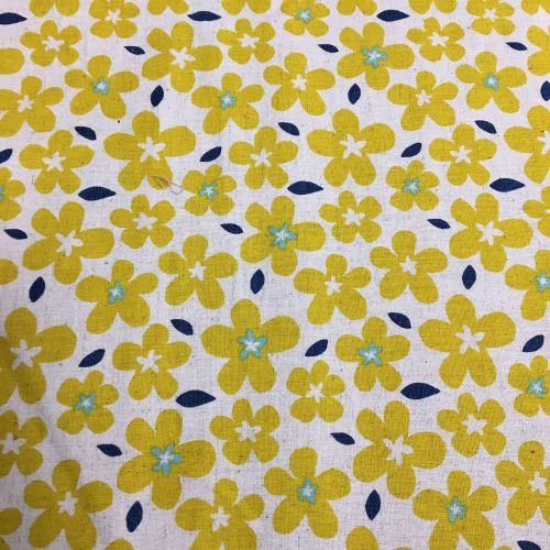 Yellow Flowers Cotton Canvas