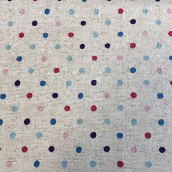 Multi Polka Dot Cotton Canavs