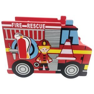 Wooden Fire Engine Shape Sorter