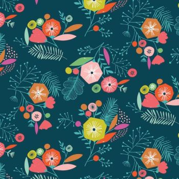 Dashwood Studio Flock Floral Navy