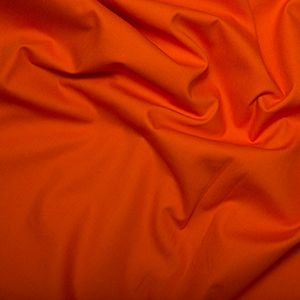Cotton Poplin Plain Orange