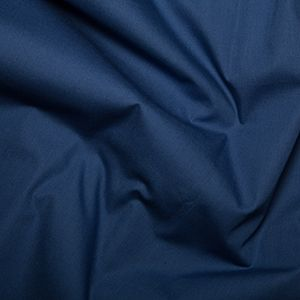 Cotton Poplin Plain Navy