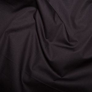 Cotton Poplin Plain Black