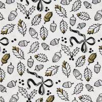 Rico Designs White Leaves