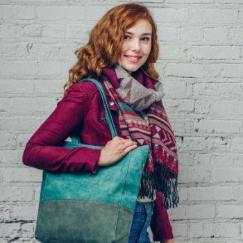 Ruban Handbag Teal