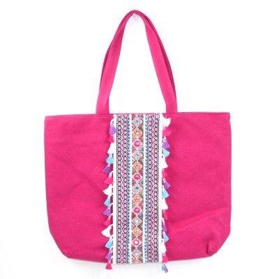 Arwen Boho Shoulder Bag Cerise