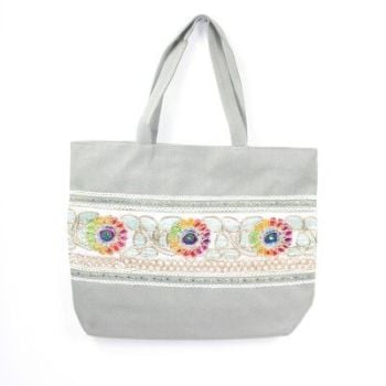 Tabitha Boho Shoulder Bag Grey