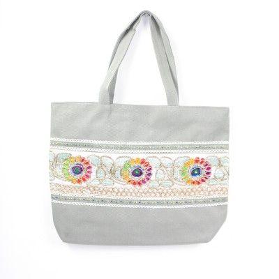 Tabitha Boho Shoulder Bag Grey