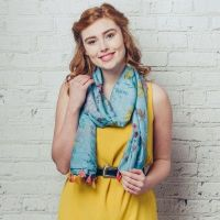 Olivia Scarf Turquoise