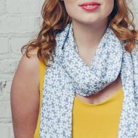 Daisy Dancer Scarf Blue