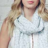 Daisy Dancer Scarf Grey