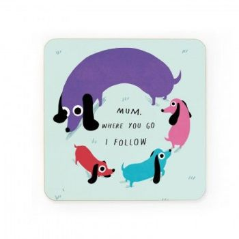 Dog Circles Coaster