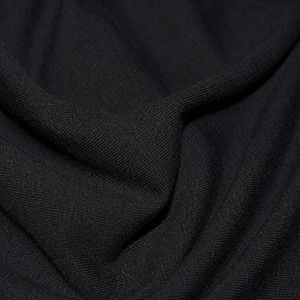 Plain black Jersey / Ribbing