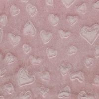 Fleece Fabric Hearts Pink