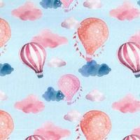 Cotton Extra Wide Hot Air Balloons