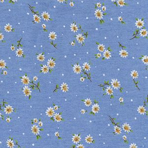 Printed Denim Fabric Daisies