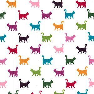 Cotton Poplin Multi Cats