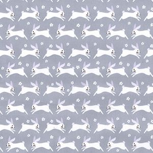 Cotton Poplin Flying Hares