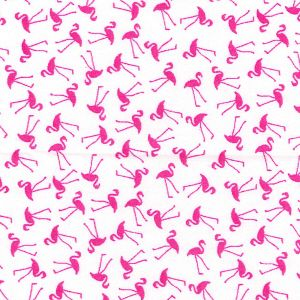 Cotton Poplin Flamingos