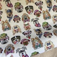 Dogs New World Tapestry Fabric
