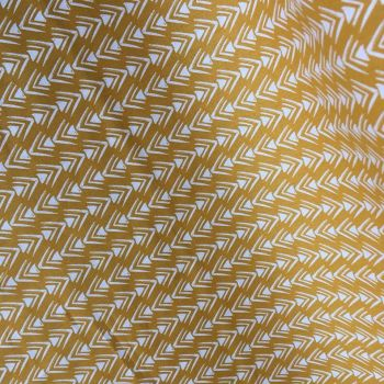 Cotton Fabric Arrowhead Yellow Extra Wide
