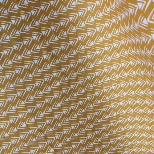 Cotton Fabric Arrowhead Yellow