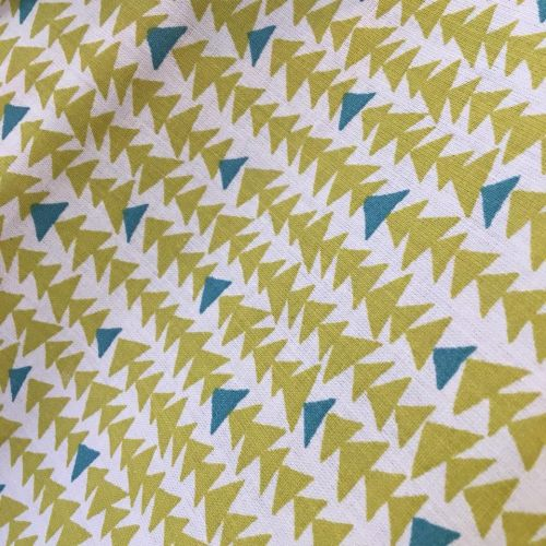 Cotton Fabric Triangles