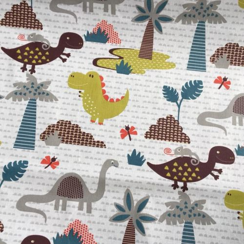 Cotton Fabric Dinosaurs Extra Wide