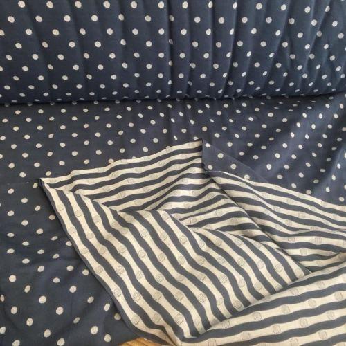 Polka Dot Double Side Knit Blue