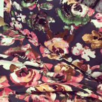 Jersey Fabric Navy Floral
