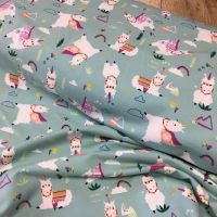French Terry Fabric Llamas