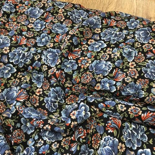 Viscose Dress Fabric Autumn Floral
