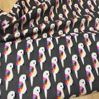 Corduroy Fabric Parrots